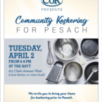 COR Community Kashering for Pesach at the BAYT